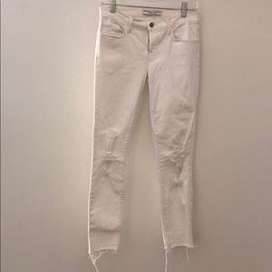 J Brand white distressed jeans sz 26 67005